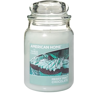 Yankee Large Jar American Home Merry Mint Chocolate Scent