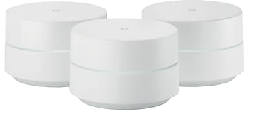 Google WiFi AC1200 Dual-Band Whole Home Wi-Fi System (3-Pack) - NLS-1304-25