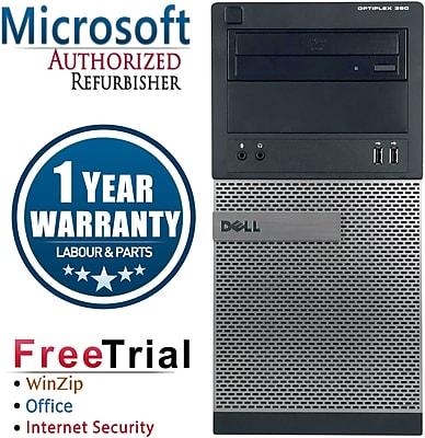 Refurbished Dell OptiPlex 390 Tower Intel Core i3 3.1GBhz 4GB RAM 250GB Hard Drive Windows 10 Pro