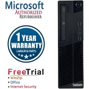 Refurbished Lenovo ThinkCentre M91P SFF Intel Core i3  3.1Ghz  4GB RAM  250GB Hard Drive Windows 10 Pro
