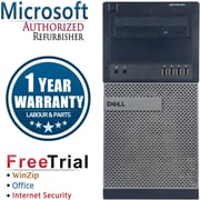 Refurbished Dell OptiPlex 990 Tower Intel Core i3  3.1Ghz  4GB RAM  250GB Hard Drive Windows 10 Pro