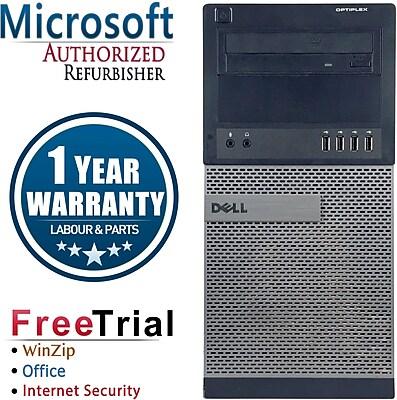 Refurbished Dell OptiPlex 990 Tower Intel Core i5 3.1Ghz 4GB RAM 250GB Hard Drive Windows 10 Pro