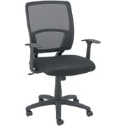 OFM Essentials by OFM Fabric Swivel Mesh Task Chair, Black, Fixed Arms (ESS-102-BLK)