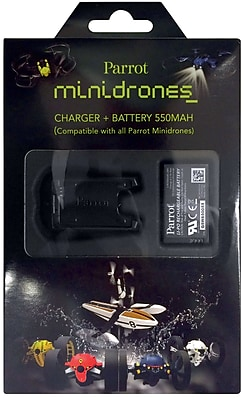 Parrot Battery Charger and LiPo Battery for Select MiniDrones