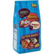 HERSHEY'S All Time Greats Snack Size Assortment, 38.9 oz, 105 Pieces