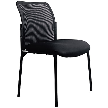 OFM Essentials by OFM Mesh Steel Tube Frame Upholstered Stacking Side Chair