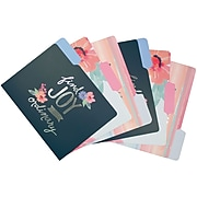 """Studio C """"Silver Linings"""" Fashion Top Tab File Folders with Silver Foil, Letter, 3 Tab, 6/Pack"""