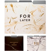 Eccolo Marble Collection Fashion Top Tab File Folders with Gold Foil, Letter Size, 3 Tab, 9/Pack
