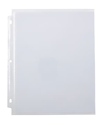 Staples Side Insert Clear Sheet Protectors