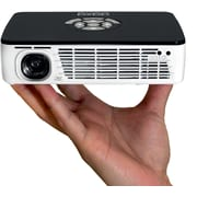 AAXA P300 Pico LED Projector, 60 Min Battery, WXGA 1280x800 HD Resolution, 500 Lumens, HDMI, Mini-VGA, Media Player (KP-600-01)