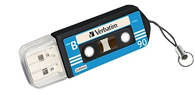 Verbatim Cassette 16GB USB 2.0 Flash Drive, Assorted Designs (99198) 2405944