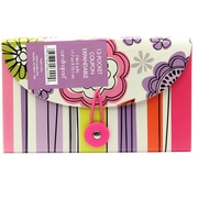 Studio C  Whimsical Flowers 13 Pocket Coupon Plastic Expandable File, Each (96090)