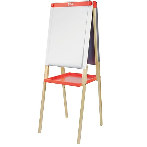 U Play Adjustable Childrens Art Easel, Double Sided, Chalk and Dry Erase Surface
