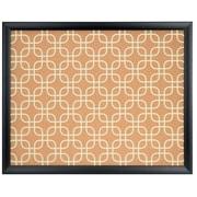 U Brands Cork Bulletin Board 20 x 16 Black Wood Frame Fashion Design Print