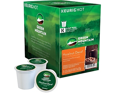 Keurig® K-Cup® Green Mountain Coffee® Hazelnut Decaffeinated Coffee, 24 Count