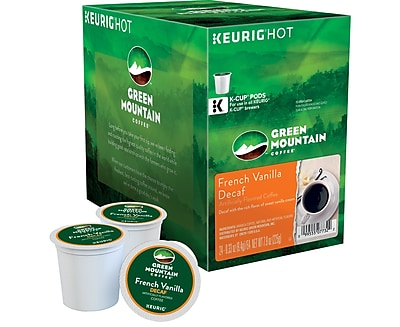 Keurig K-Cup Green Mountain French Vanilla Decaf Coffee, Decaffeinated, 24 Pack 719429