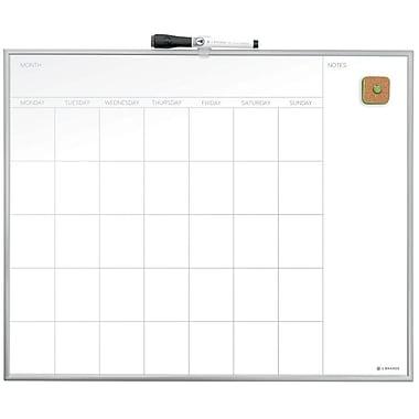 U Brands Magnetic Monthly Calendar Dry Erase Board 20 x 16 Silver Aluminum Frame