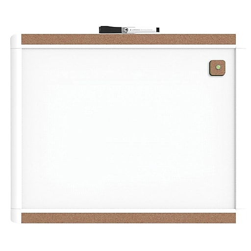 U Brands Pin It Magnetic Dry Erase Board 20 X 16 White Frame Staples