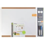 U Brands Pin-It Magnetic Dry Erase Board Essentials Value Pack 20 x 16 White Frame
