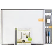 U Brands MOD Magnetic Dry Erase Board Value Pack 20 x 16 Black and Gray Frame