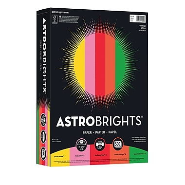 ASTROBRIGHTS Color Paper, 8 1/2