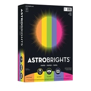 "Astrobrights Color Paper, 8.5"" x 11"", 24 lb./89 gsm, ""Happy"" 5-Color Assortment, 500 Sheets/Pack (21289/22289)"