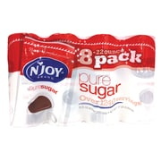 N'Joy Pure Sugar Cane Canisters, 22 oz, Plain, 8/Carton (827820)
