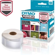 "DYMO LW Durable Labels for LabelWriter Label Printers, White Poly, 1"" x 2-1/8"", Roll of 160 (1976411)"