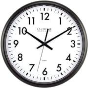 La Crosse Clock 404-2634 13.5 Inch Quartz ThinLine Analog Wall Clock, Black