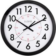 La Crosse Clock 404-2636B 14 Inch Info-Tech Commercial Wall Clock, Black