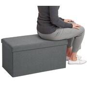 Poppin Dark Gray Box Bench