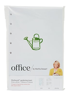 Office by Martha Stewart Discbound™ Gardening Insert, 5.5