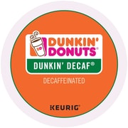 Dunkin' Donuts® Decaf Coffee, Keurig® K-Cup® Pods, Medium Roast, Decaffeinated, 24/Box (400846)