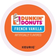 Dunkin' Donuts® French Vanilla Coffee, Keurig® K-Cup® Pods, Medium Roast, 24/Box (400847)