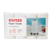 Staples® Choose-Your-Size Paper Towel, 8 Rolls/Pack, 150 Sheets/Roll, 2-Ply (28578)