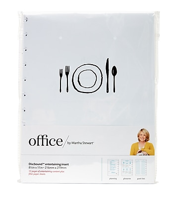 Office by Martha Stewart™ Discbound™ Entertaining Insert Refill (29705)