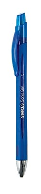 Staples Sonix™ Retractable Gel-Ink Pens, Medium Point, Blue, Dozen (13563-CC)