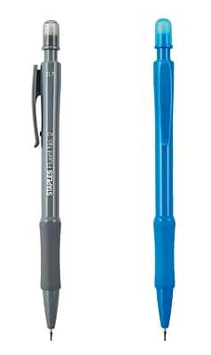 STAPLES® FLUENT® NO. 2 GRIPPED MECHANICAL PENCILS MED 0.7MM GRAY/BLUE 12PK (18307)
