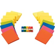 Post-it® Notes and Flags Combo, 3 in x 3 in , 16 Pads/Pack, 90 Sheets/Pad plus Bonus 1/2 inch Wide Flags with Dispenser