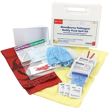 First Aid Only™ Spill Kits; Bodily Fluid /Bloodborne Pathogen, 24 Pieces