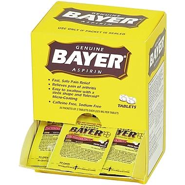 Bayer® Aspirin, 220 Mg, 50/Packets, 2 Tablets/Packet (90010)