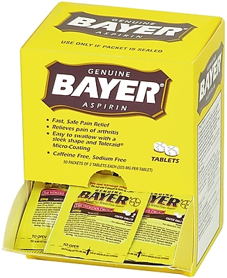 Bayer® Aspirin, 325 Mg, 50/Packets, 2 Tablets/Packet (90010)