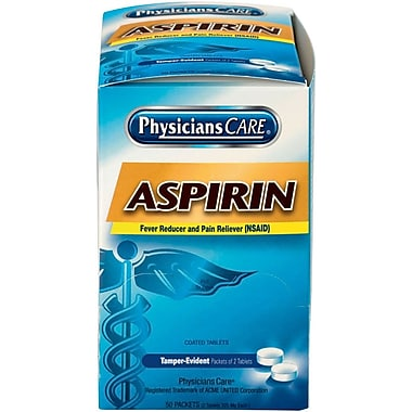 PhysiciansCare® Aspirin Tablets, 50 Packets (90014)