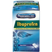 PhysiciansCare® Ibuprofen Pain Reliever Medication (Compare to Advil), 200mg, 50 Packets of Two Tablets (90015)