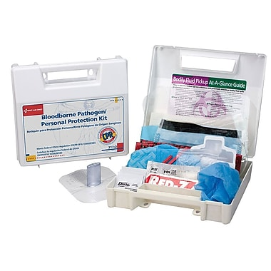 First Aid Only® Blood Borne Pathogen (BBP) & Personal Protection and Spill Clean Up Kit, CPR Micro Shield, (217-O)