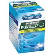 PhysiciansCare® Extra Strength Pain Reliever, 50 Packets of Two Tablets, child proof packaging