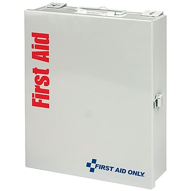 First Aid Only® SmartCompliance™ First Aid Cabinet, Medium, Metal, 25 Person, 112 Pieces (1050-FAE-0103)