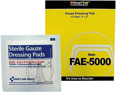 First Aid Only® SmartCompliance™ Refill, Gauze Pads, 2