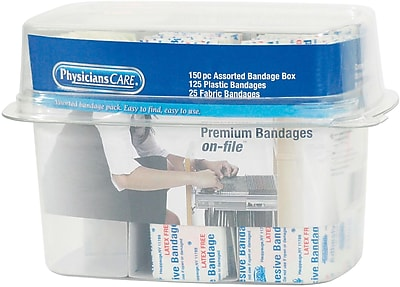 First Aid Only® Assorted Bandage Box Kit: 150 Piece (90095)