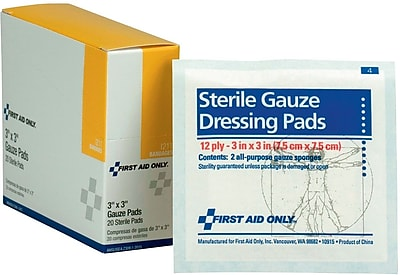 First Aid Only® Gauze Dressing Pads 3